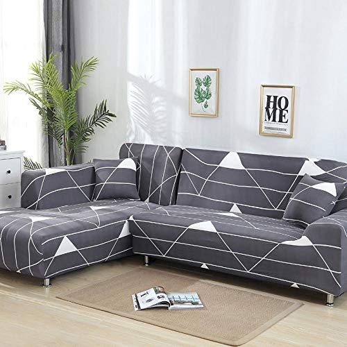JRKJ sofahoezen, hoezen voor hoekbank Elastic Cover Sofa for Living Room Couch Slipcover Stretch L Shaped Sofa Cover Corner Sofa Cover