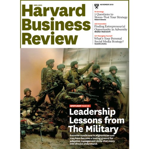 Harvard Business Review, November 2010 audiobook cover art