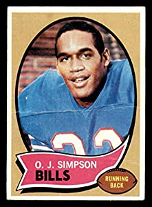 1970 Topps #90 O.J. Simpson Writing on Back RC Rookie Bills