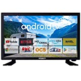 Antivarion - Televisor de 19 pulgadas, 48 cm, Bluetooth Connect Netflix RMC, deporte, camping, coche, barco, 12/24/220 V, Smart TV LED