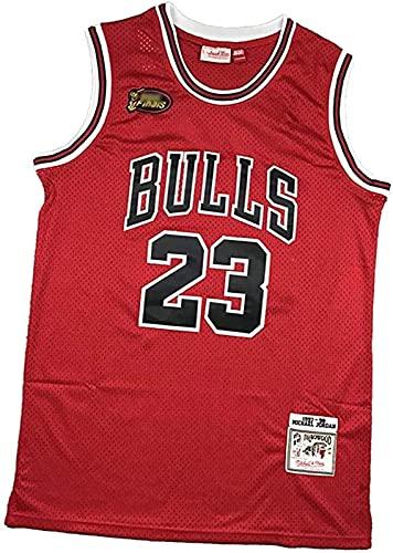 ZXC NBA - Camiseta de baloncesto para hombre, 23 # Michael Jordan-Chicago Bulls, 90S Hip Hop ropa para fiesta, unisex retro bordado de malla (XXL, B3)