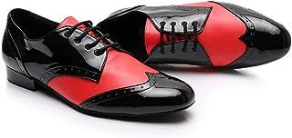 KAI-ROAD Ballroom Dance Shoes Men Latin PU Leather Modern Dancing Shoes,3 Color Avaliabe