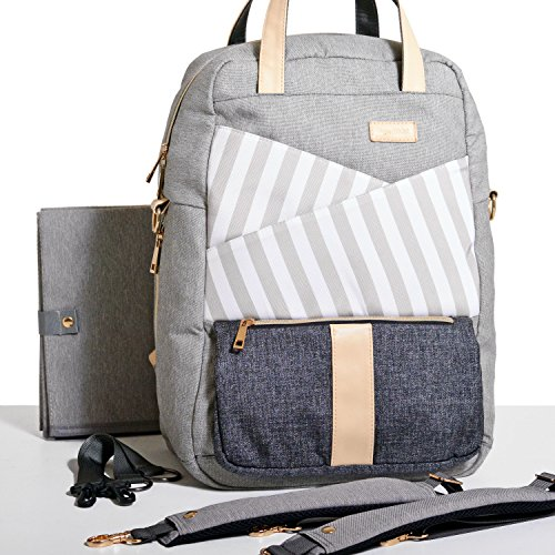 Gadikat Diaper Bag - Dani Backpack, Huge Diaper Changing Pad & Stroller/Shoulder Straps Included