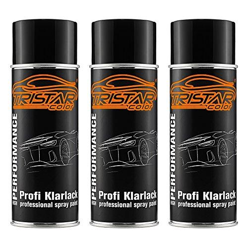 TRISTARcolor 3 x Spraydose Profi KLARLACK GLÄNZEND 400 ml Autolack Sprühdose