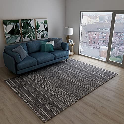 Alfombra marroquí fácil de limpiar para sala de estar, resistente a las manchas, alfombras contemporáneas de varios tamaños rectangulares para el suelo, para el dormitorio, 160 cm x 200 cm