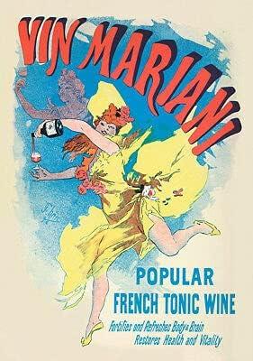 Kunstdruck Vin Mariani 436 French Tonic Wine Botella Jules Cheret Poster A2