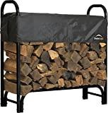 ShelterLogic 4' Adjustable Heavy Duty Outdoor Firewood Rack...