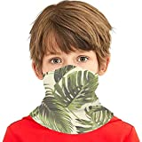 fgjfdjj Hojas de Palmera Tropical Hoja de la Selva Naturaleza Versátil Multifunción Sombreros Cuello Polaina Pasamontañas Casco Forro Equitación Cubierta Facial para niños al Aire Libre Protección UV