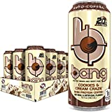 Cookies and Cream BANG Bang Energy Keto Coffee Energy Drink, 20g Protein, Coffee Cookies & Cream 15 Fl Oz (Pack of 12) (Packaging Can Vary)