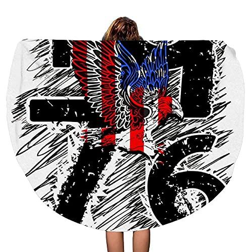 Newyork Athletic diseño gráfico con águila, Grueso, Redondo, Toalla de Playa, Manta, Mandala, Microfibra, Estilo Bohemio, círculo, Gran tamaño, Extra Grande, para Yoga, tapete de Mesa