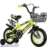 Nerioya Biciclette per Bambini, Adatte per Mountain Bike/Biciclette di 3-5-9 Anni, Biciclette per Bambini da 16 Pollici / 18 Pollici / 21 Pollici / 23,6 Pollici con Ruote Flash, Stabilizzatori,B,18in