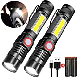 Rechargeable Flashlight, Spriak Magnetic Flashlights with Clip (Included...