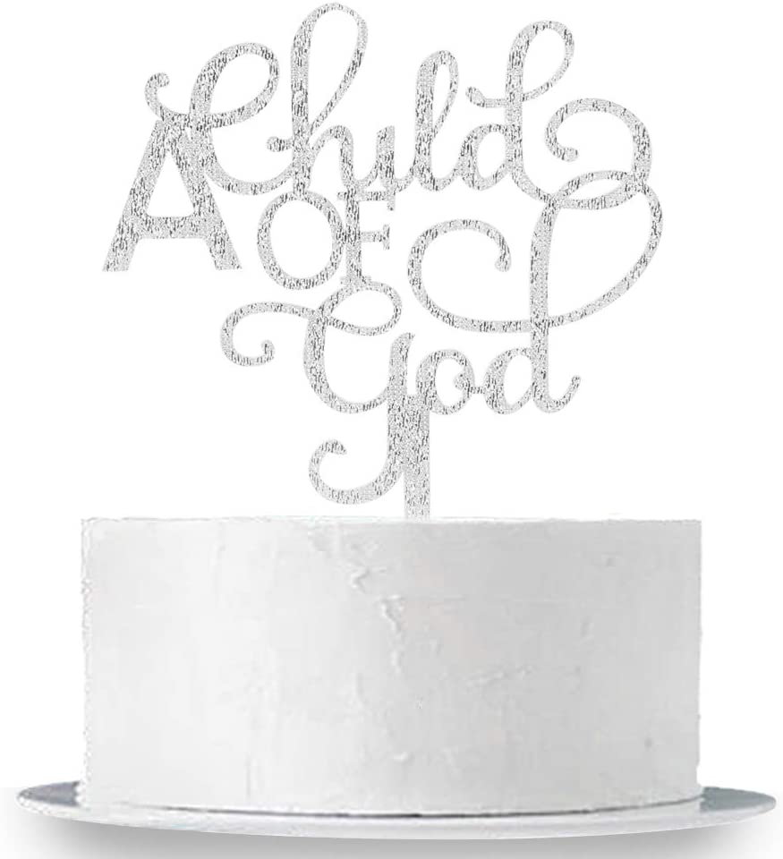 INNORU A Child of Gold Cake Topper Acrylic God Ca Super beauty Max 50% OFF product restock quality top - Bless Silver
