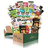 Deluxe Snacks Variety Pack for Adults - GLUTEN FREE, DAIRY FREE, Kosher Cookies, Bars, Chips, Puffs, Fruit & Nuts. [40 Count] HOLIDAY GIFT BASKETS | Healthy Snack Box | Care Packages for College Students