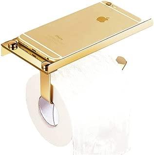 Ingenuitstore Toilet Paper Holder Wall Mount For Bathroom (Golden)