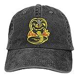 Gorra Hombre Béisbol Retro Snapback Unisex Jeans Hat Cobra Kai Lightweight Breathable...