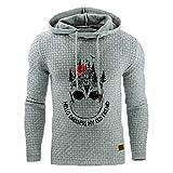 Herren Hoodie Sweatshirt Mode Gitter Drucken Spleißen Taste Pulli Lange Ärmel Weihnachtspullover...