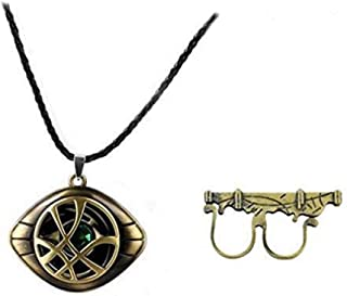 Bo Feng Doctor Strange Sling Cosplay Ring Props Magic Punk Power Ring with Necklace