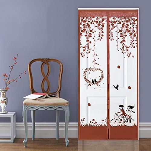 Pantallas de cortina de puerta antimosquitos domésticas de verano anti-insectos magnéticos/exterminador/mosquitera mosquitera puerta mosquitera anti moscas A2 W100xH210