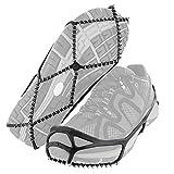 KANGLE Botines de tracción Antideslizantes Agarre para Hielo y Nieve sobre la Zapatilla Zapato de tracción Clavijas de Goma Cadena de Agarre para Hielo para Caminar, Trotar o Caminar sobre Nieve