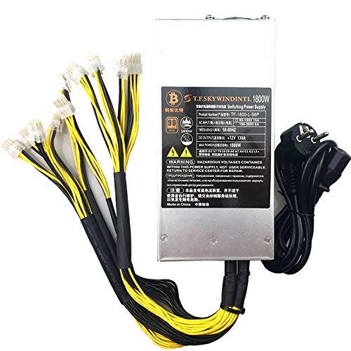 SAUJNN Bitmain Antminer 2U 1800w Power Supply for Antminer S9 S7 L3 D3 Crypto Mining 12v 1800 PSU for Mining RIG APW3-12-1600 PSU 1800W