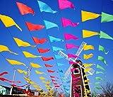 Awinker 160 metros 300 piezas guirnaldas banderines banderas pancarta colores triángulo decoración colgante de boda bautizo fiesta cumpleaños navidad (300 pcs-160 metros)