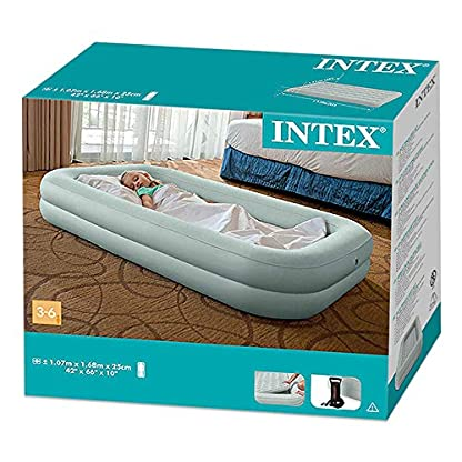 Intex 66810NP Floque + Airbed Air Bed Inflator Travel 3