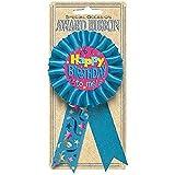 Amscan Happy Birthday Blue Award Ribbon, 5 1/2'
