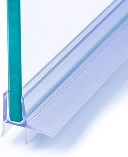 IEGAR - Junta de 100cm para mampara de ducha de 4 mm/5 mm/6 mm, nuevo perfil de doble barra, reemplazo para puerta de vidrio con bisagras o correderas, universal con escurridor
