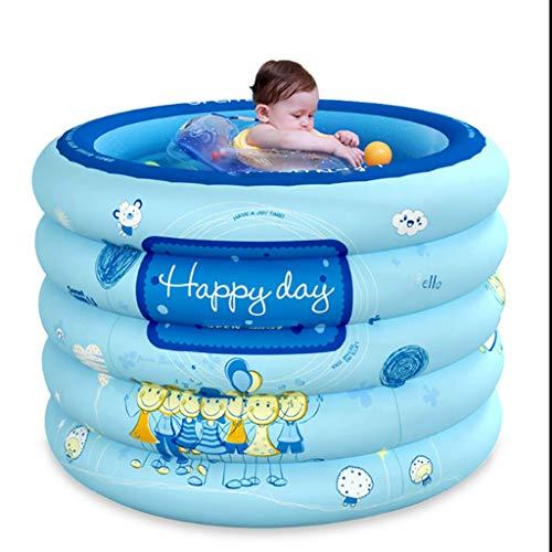 XYZMDJ Aufblasbare Badewanne, tragbare Runde verdicken Aufstockung Schwimmen Eimer Baby-Planschbecken Bad Cylinder Badewanne Familie Inflatable Pool