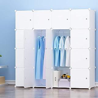 PREMAG - Guardarropa portátil para colgar ropa, armario combinado, armario modular para ahorrar espacio, organizador ideal...