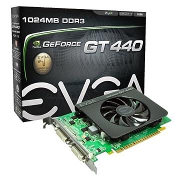 EVGA GeForce GT 440 1024 MB DDR3 PCI Express 2.0 2DVI/Mini-HDMI Graphics Card 01G-P3-1441-KR
