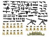War Equipment, Sandbag and Weapon in World War II Compatible Building Block Figures