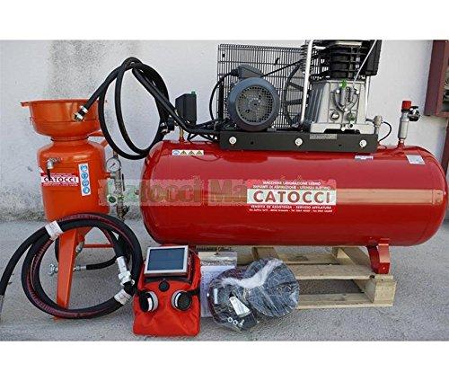 SABBIATRICE CON COMPRESSORE 270 LT HP 7,5 TRIFASE