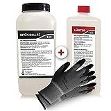 Resine epoxy transparente 3,25 kg | Qualité professionnelle limpide et à faible odeur | Résine coulée pour bois + gants gratuits, y compris les instructions en français