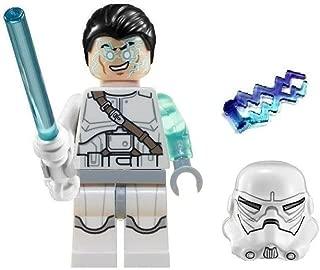 LEGO Star Wars Jek-14 Minifigure Complete - White lightsaber, helmet, hair-piece, & lightning (2014)
