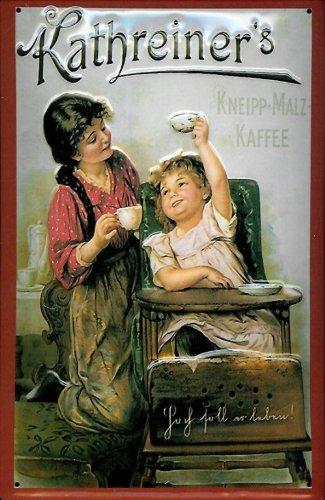 Blechschild Kathreiner Kneipp Malz Kaffee Kinderstuhl Schild Malzkaffee retro Nostalgieschild