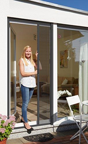 Schellenberg 70897 Insektenschutzrollo für Türen 160 x 225 cm, Fliegengitter Tür als Rollo