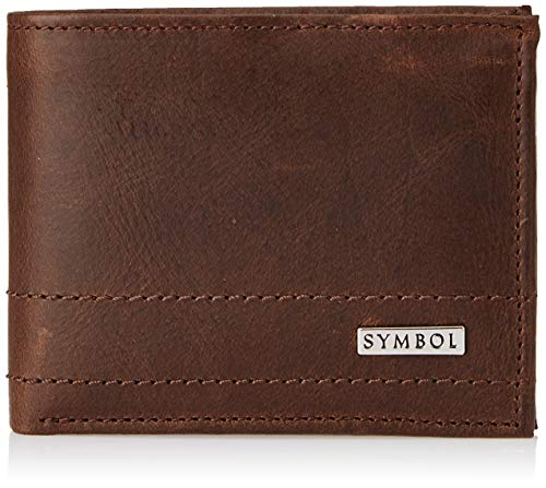Amazon Brand - Symbol Brown Leather Men's Wallet (SY191230-0080B)