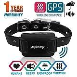 AngelaKerry Drahtloser Hundezaun Enthalten System fr 850YD Fernbedienung Reichweite, mit GPS Halsband, Vibration & Ton (Schwarz)