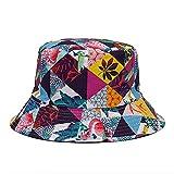 Sombrero De Cubo Unisex Gorra De Playa De Algodón Plegable Para El Sol Verano Para Mujeres Hombres Sombrero De Pescador Sombrero De Sol Con Estampado De Flamencos Gorra De Sombrilla,Flamingo,56,58Cm