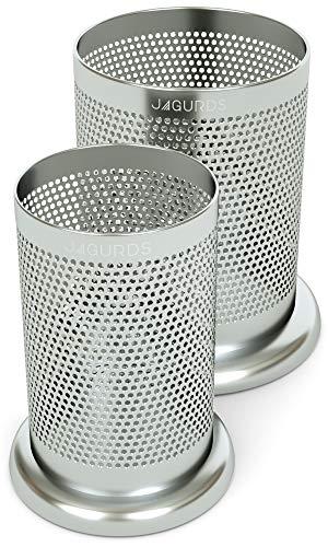 Jagurds Stainless Steel Kitchen Utensil Holder Caddy  Silverware Cutlery and Cooking Utensil Organizers
