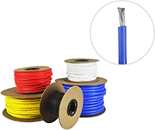 8 AWG Gauge Silicone Wire - Fine Strand Tinned Copper - 25 Feet Blue