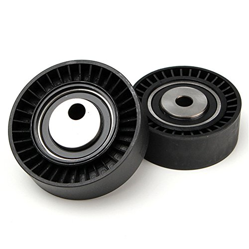 Great Deal! GZQ 2PCS Belt Tensioner Pulley Roller Idler Pulley Kit for BMW E36 E46 E39 325I 330I 525I 530I