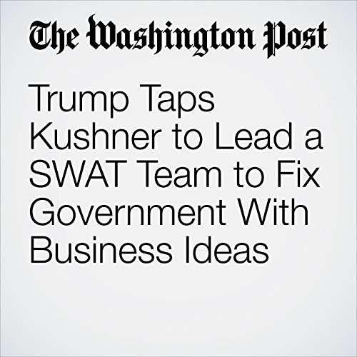 Trump Taps Kushner to Lead a SWAT Team to Fix Government With Business Ideas copertina