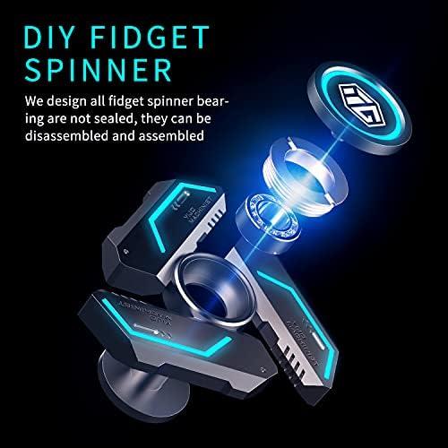 Blue glow in the dark fidget spinner _image3