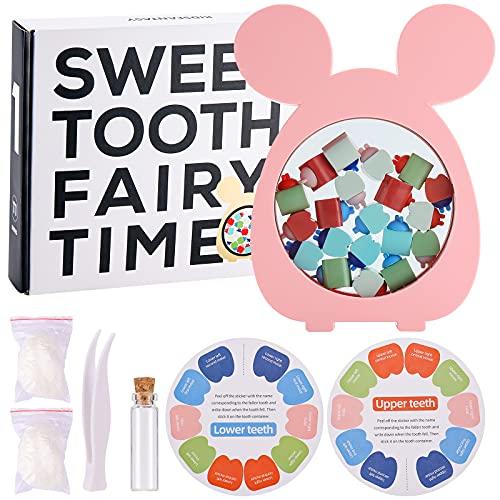 SallyFashion Baby Teeth Keepsake Box Tooth Holder for Kids Keepsake Kids Tooth Storage Box for Baby Shower, Birthday Gifts, Christmas Present