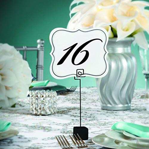 Table Number Cards 1 to 25 Double Sided David Tutera Bridal Wedding Party Decor ~ ifa