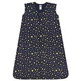 Hudson Baby Unisex Baby Cotton Sleeveless Wearable Sleeping Bag, Gold Navy Star, 6-12 Months US
