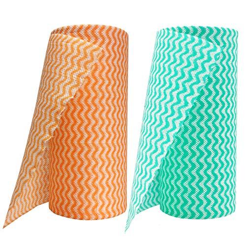 PandS toallas de papel reutilizables   Toallas de papel resistentes y ecológicas, lavables a máquina, reutilizables   Un rollo sustituye a 6 meses de toallas   Fuerte absorbente y de secado rápido